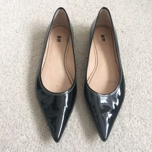 BP Patent Leather Catty Pointy Toe Flats